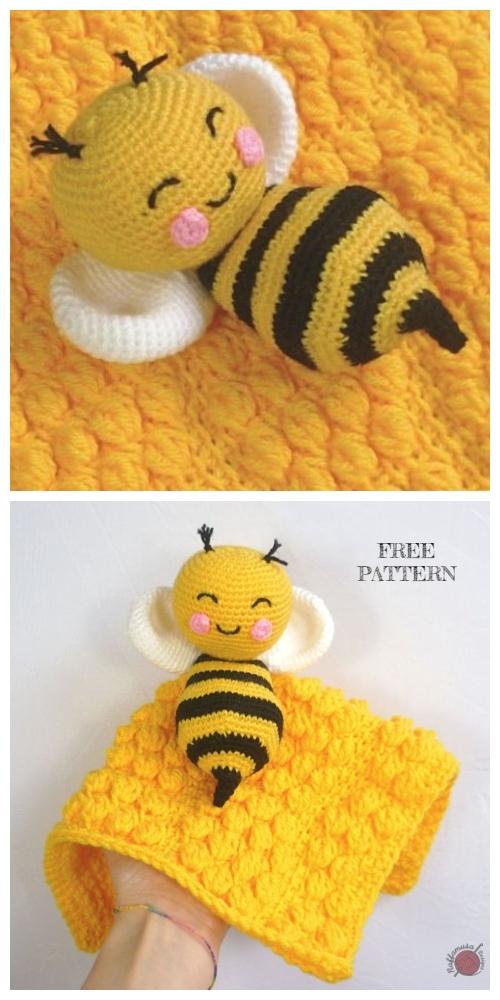 Tunisian Crochet Beehive Lovey Free Crochet Pattern