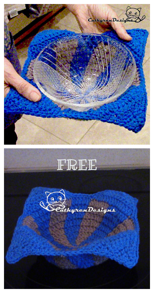 Bowl Cozy Microwave Oven Hot Potholder Free Crochet Patterns