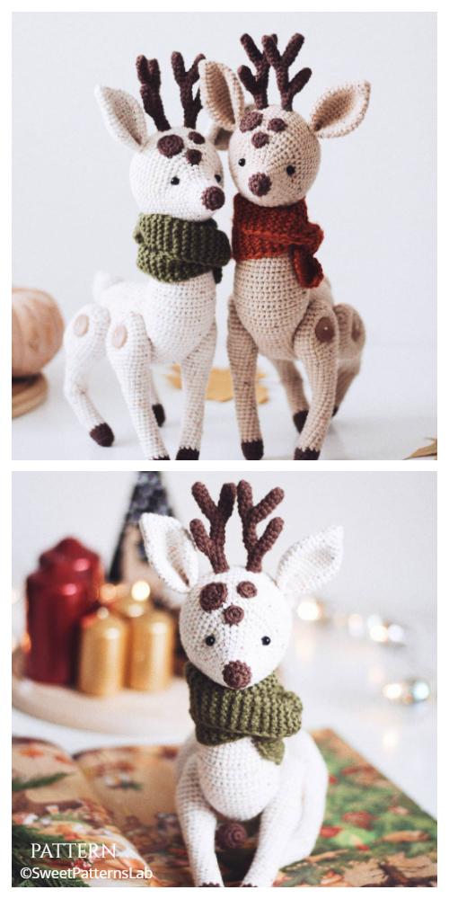 Christmas Crochet Reindeer Kings of the Forest Amigurumi Patterns