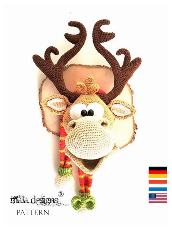 Christmas Deer Trophy Amigurumi Crochet Patterns