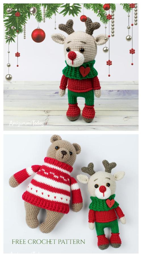 Crochet Christmas Deer Amigurumi Free Patterns
