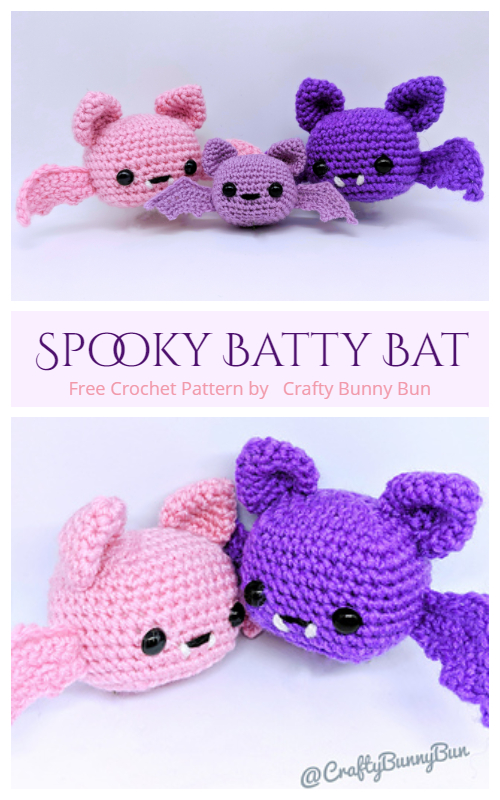 Halloween Crochet Spooky Batty Bat Amigurumi Free Patterns