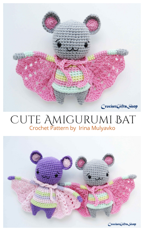 Halloween Amigurumi  Bat Crochet Patterns