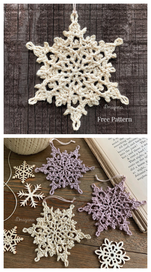 Winterlore Snowflake Free Crochet Patterns