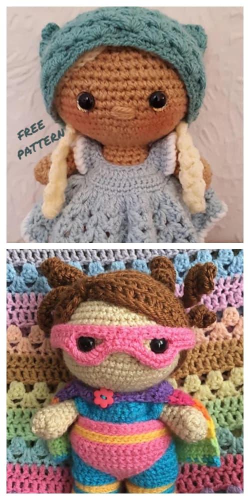 Amigurumi Midium Size Weebee Doll Free Crochet Patterns
