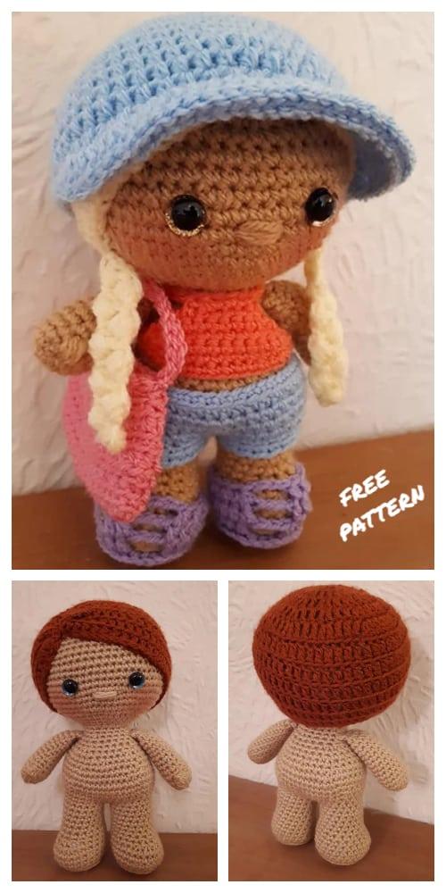 Amigurumi Standard Size Weebee Doll Free Crochet Patterns