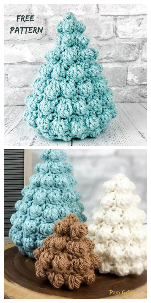 Bobble Christmas Tree Free Crochet Patterns