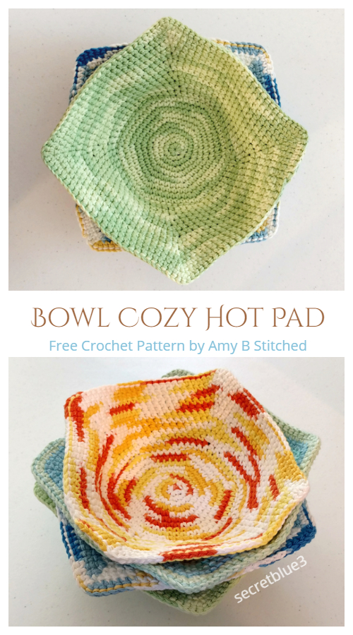 Bowl Cozy Hot Pad Free Crochet Patterns
