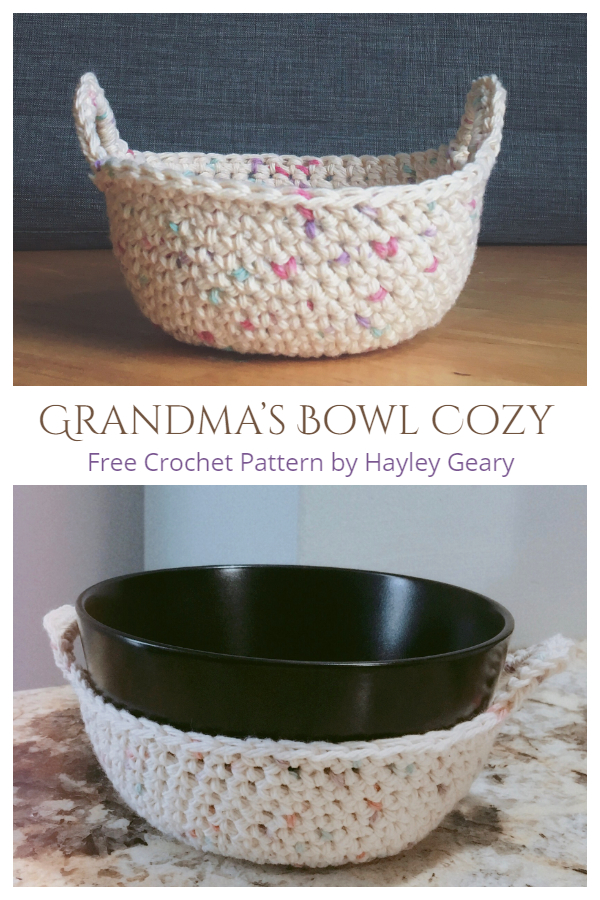 Grandma's Bowl Cozy Free Crochet Patterns