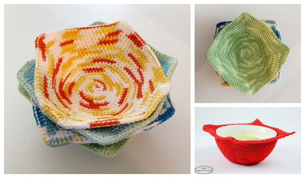 Bowl Cozy Hot Pad Free Crochet Patterns