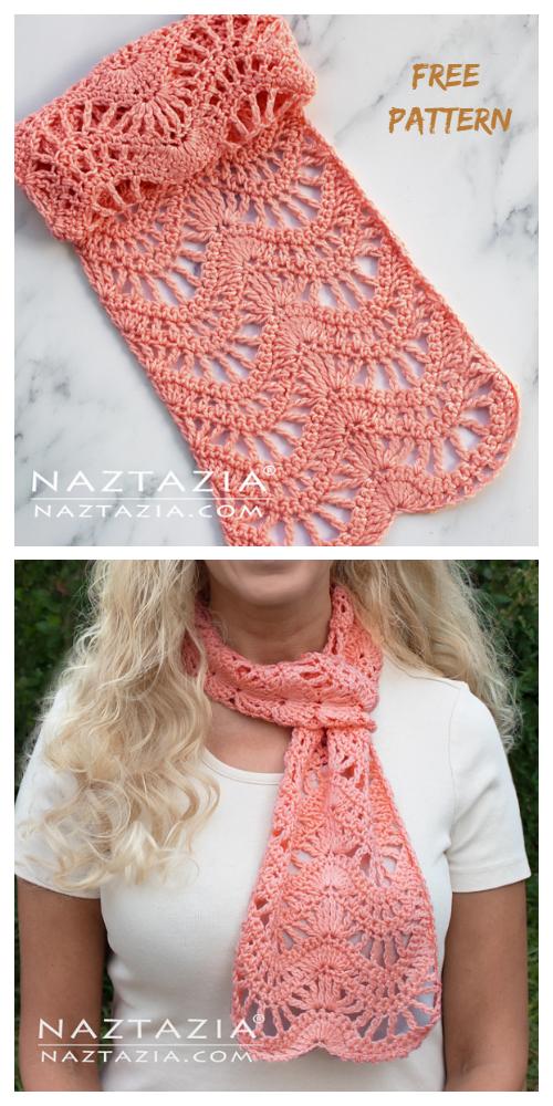 Chevron Lace Scarf Free Crochet Patterns + Video