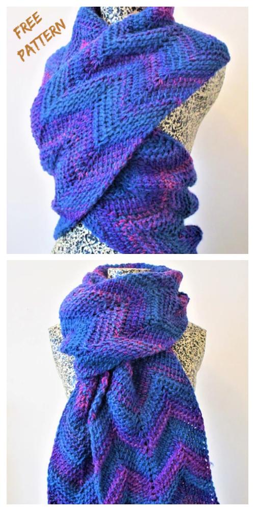 Tunisian Crochet Chevron Scarf Free Crochet Pattern