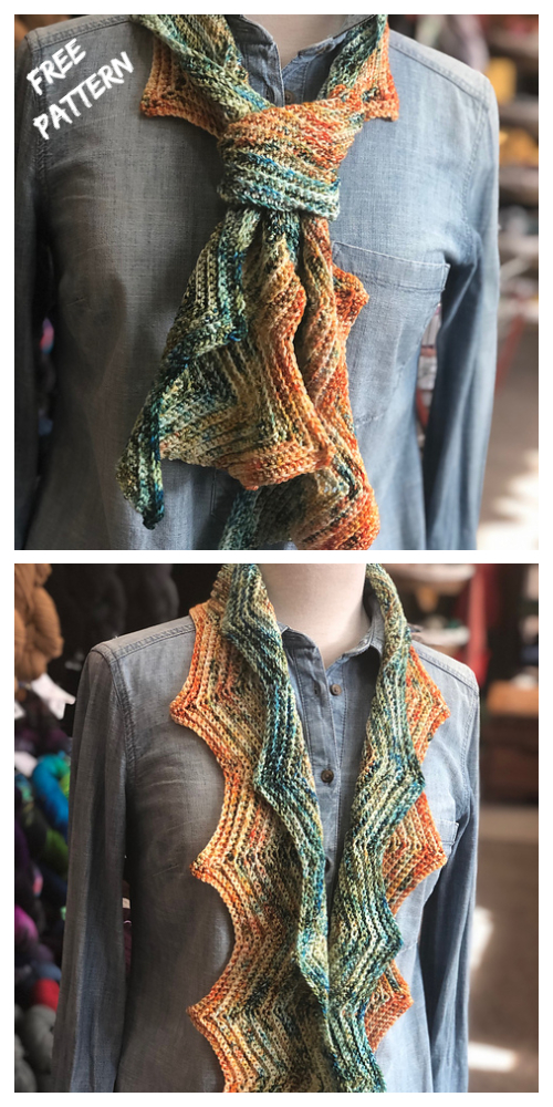 Step Right Up Chevron Scarf Free Crochet Pattern