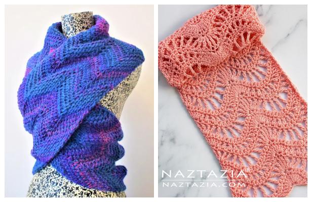 Chevron Scarf Free Crochet Patterns