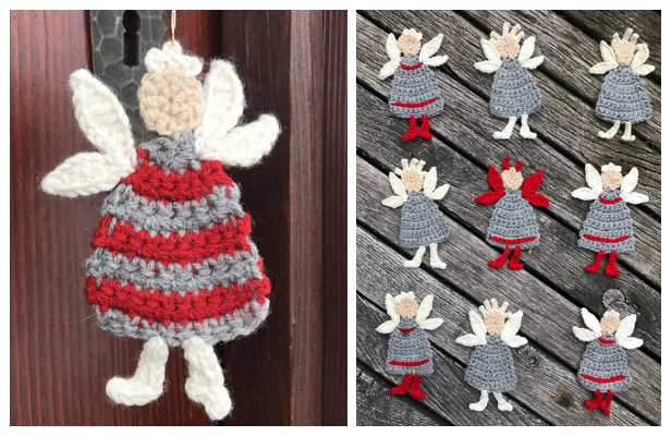 Christmas Angel Applique Free Crochet Patterns