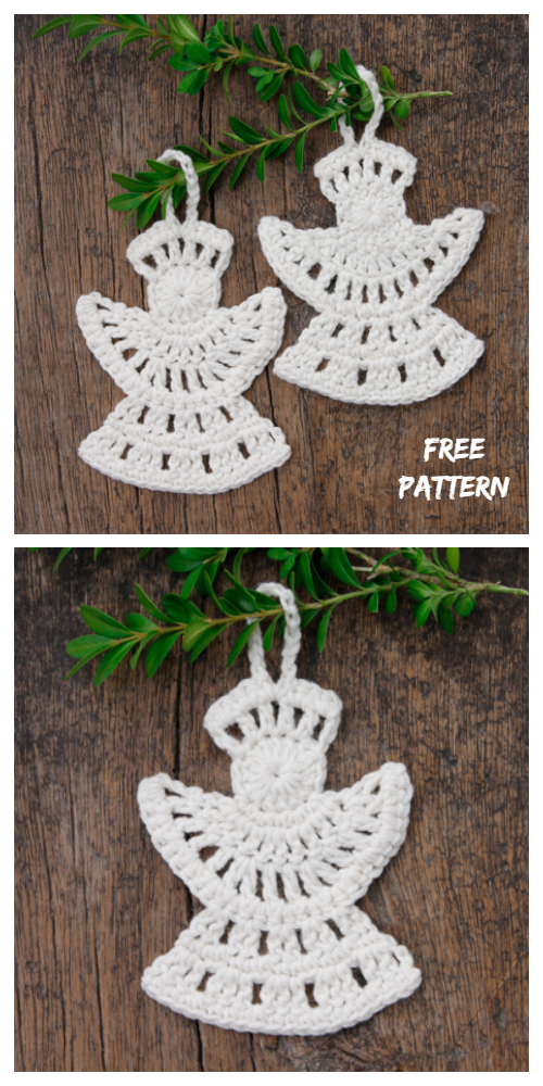 Christmas Frozen Angel Applique Free Crochet Patterns