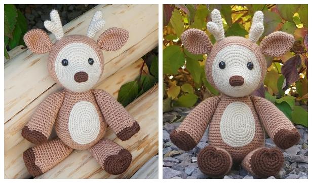 Christmas Crochet Deer Amigurumi Free Patterns