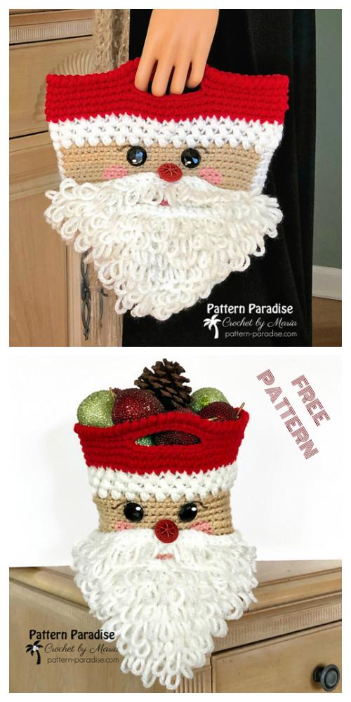 Christmas CrochetSanta Bag Free Crochet Pattern