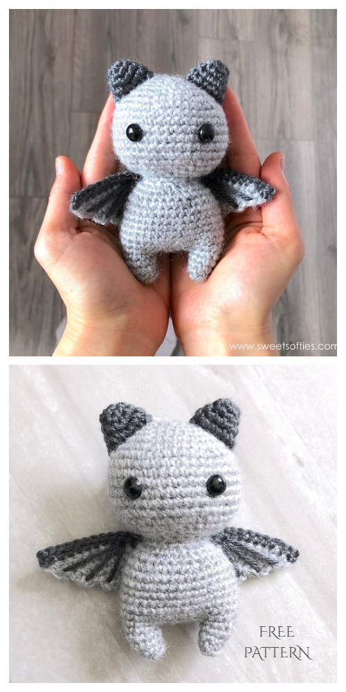 Crochet Little Brave Bat Amigurumi Free Patterns