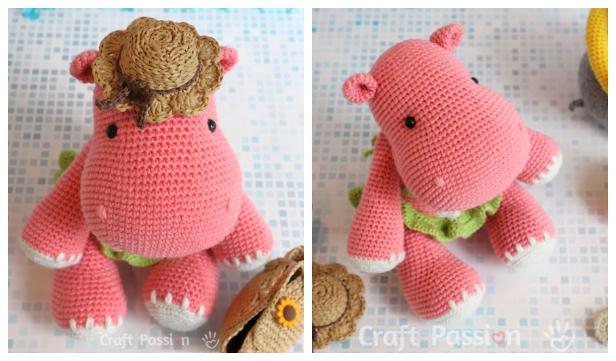 Amigurumi Crochet Hippo Toy Softies Free Patterns | Crochet baby ... | 361x616