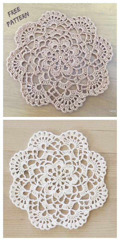 Easy Mini Cluster Lace Doily Free Crochet Patterns