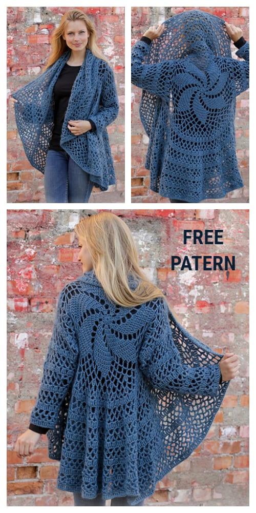 Fall Festive Circle Jacket Free Crochet Patterns