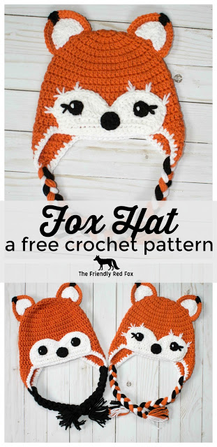 Crochet Friendly Fox Hat Free Crochet Pattern