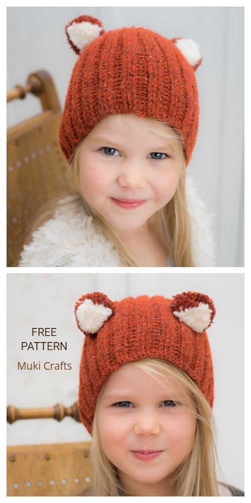 Crochet Fox Frisky Hat Free Crochet Patterns