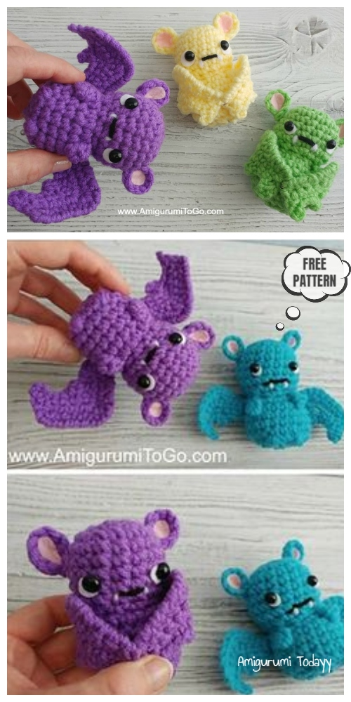Halloween Crochet Cutie Pocket Bat   Amigurumi Free Patterns