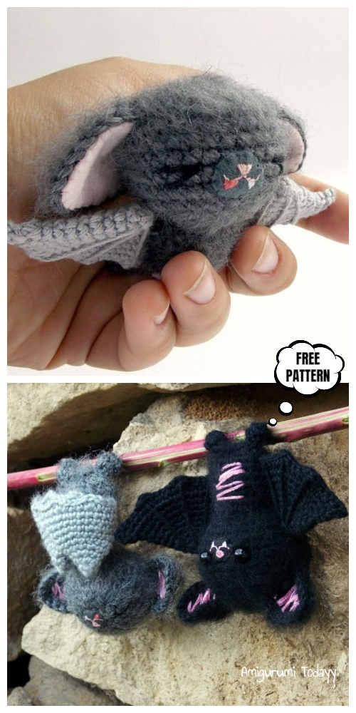 Halloween Crochet Bat Amigurumi Free Patterns