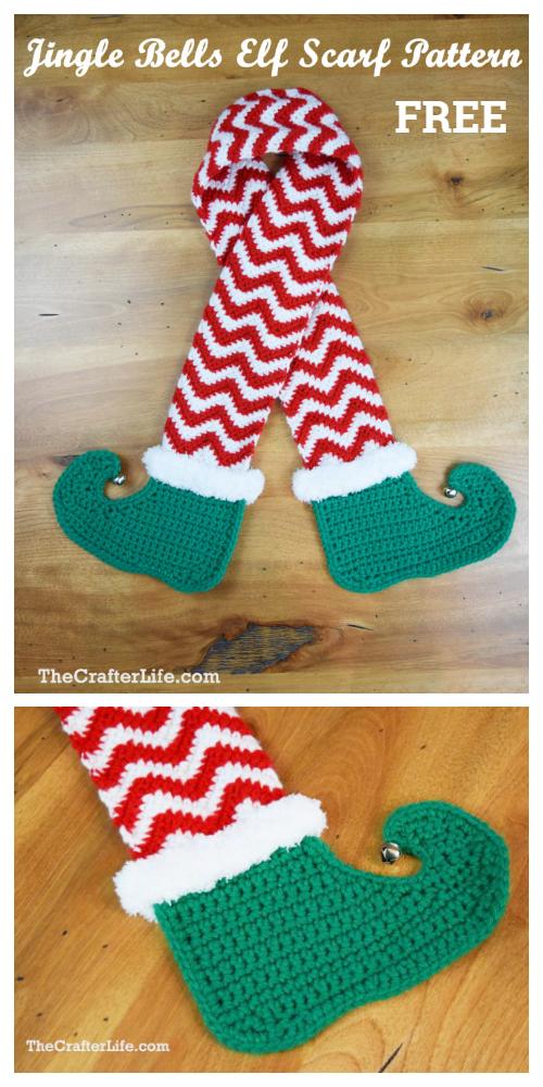 Christmas Elf Legs Scarf Free Crochet Patterns