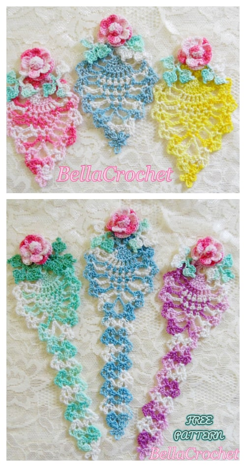 Lacy Pineapple Bookmark Free Crochet Patterns