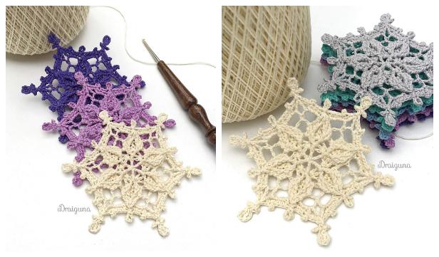 Winter Snowflake Free Crochet Patterns