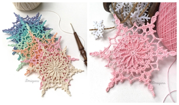 Wispweave Lace Snowflake Free Crochet Pattern