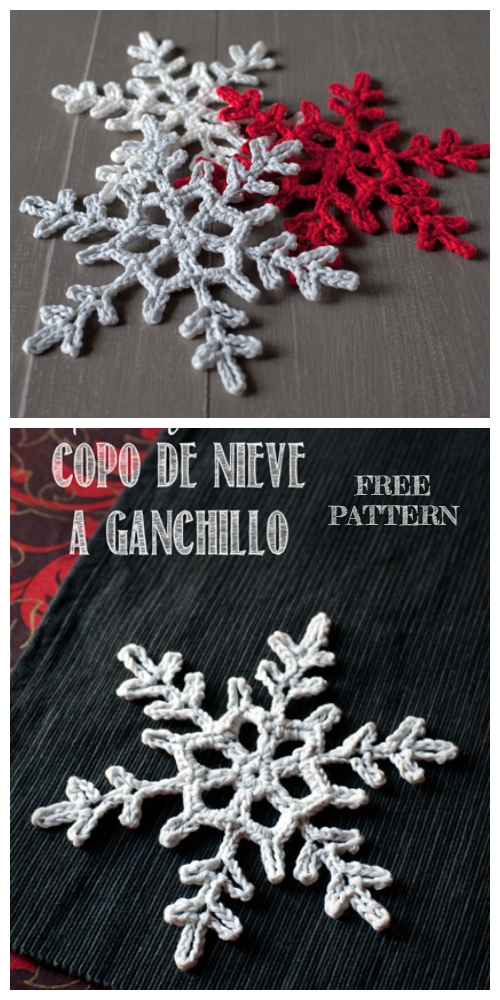 Lace Snowflake Free Crochet Pattern