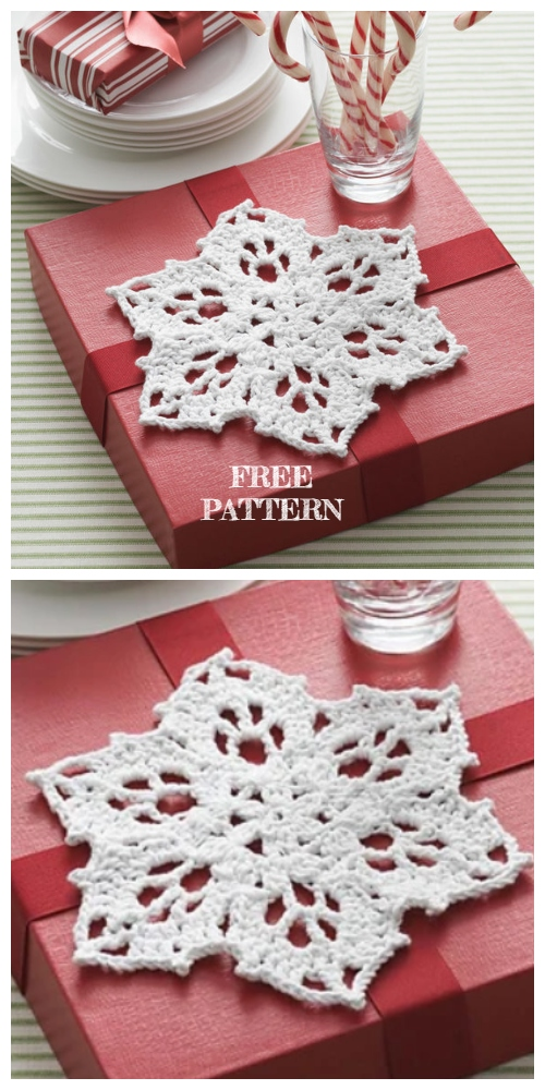 Lace Snowflake Dishcloth Free Crochet Pattern