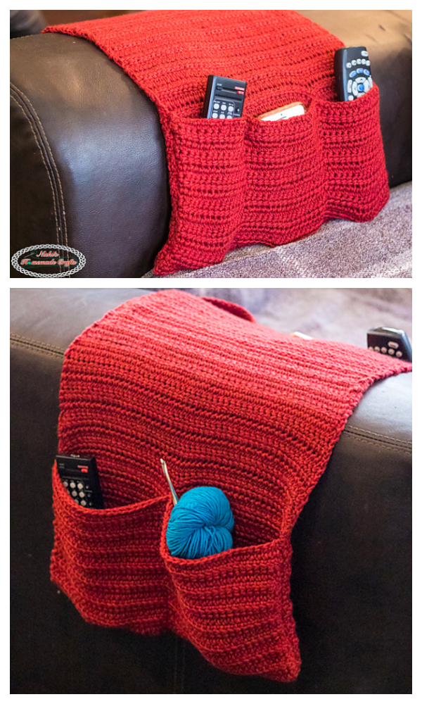 Sofa Armchair Caddy Organizer Free Crochet Patterns