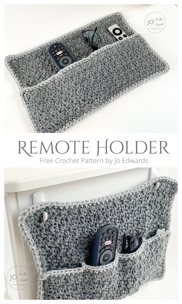 Remote Holder Organizer Free Crochet Patterns