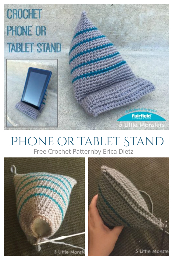 Phone or Tablet Stand Gifts Free Crochet Patterns