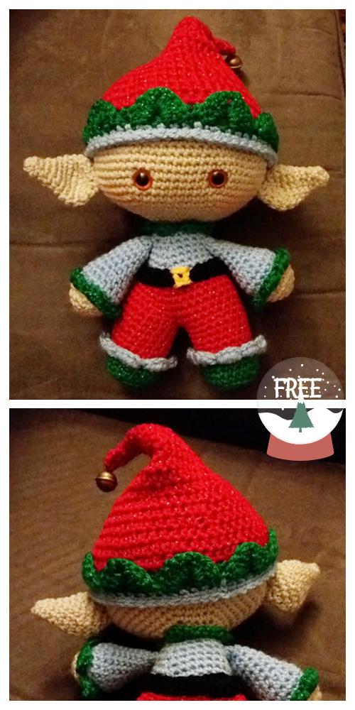 Amigurumi Christmas Weebee Elf Doll Free Crochet Patterns