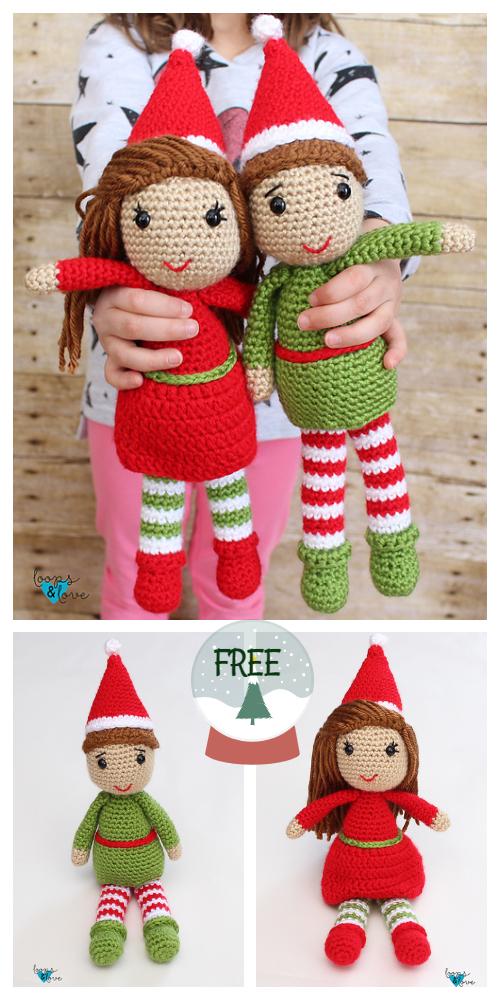 Christmas Elf Doll Amigurumi Free Crochet Patterns