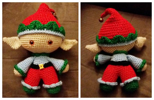 Amigurumi Christmas Elf Doll Free Crochet Patterns