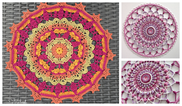 Bloom Mandala Free Crochet Patterns