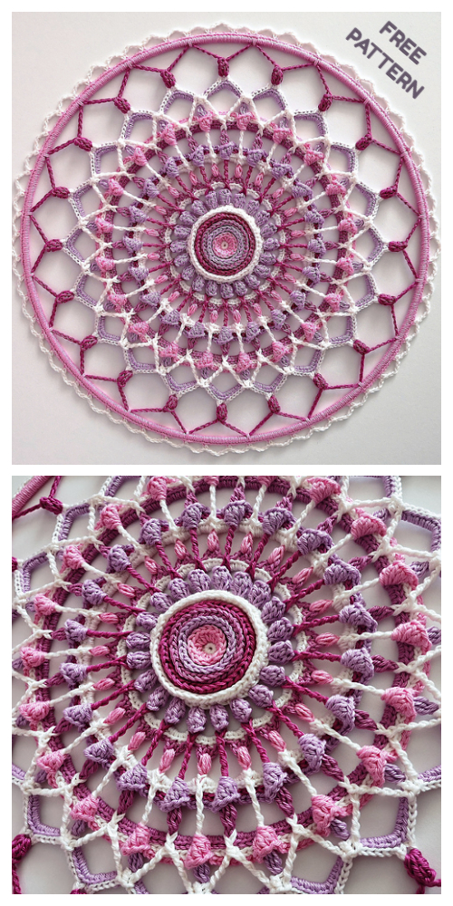 Autumn Bloom Mandala Free Crochet Patterns
