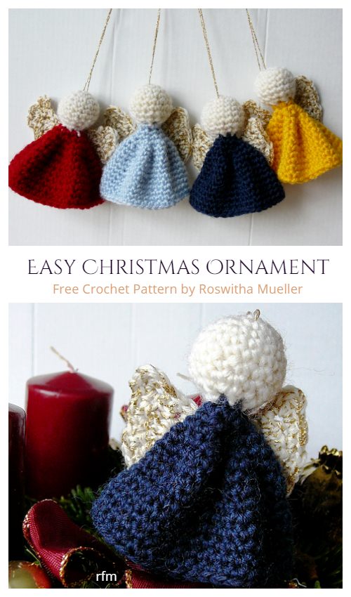 Easy Christmas Angel Ornament Free Crochet Patterns