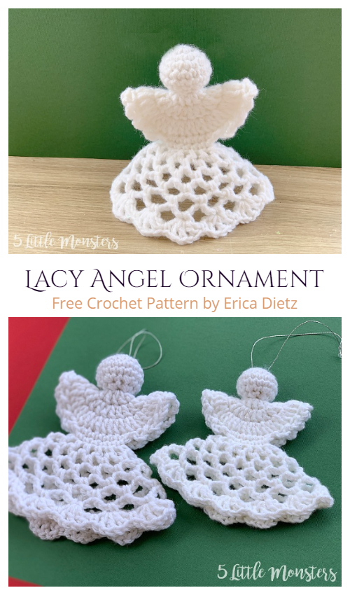 Easy Christmas Lacy Angel Ornament Free Crochet Patterns