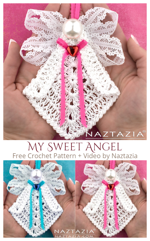 My Sweet Angel Christmas Ornaments Free Crochet Pattern + Video