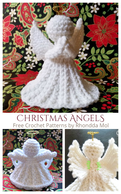 Christmas Angel Ornaments Free Crochet Patterns