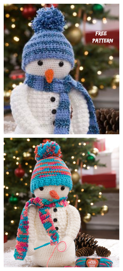 Christmas Crochet Snowman Amigurumi Free Patterns