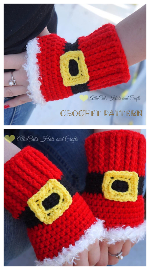 Christmas Holiday Cheer Mitts Crochet Patterns